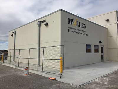 McAllen ISD Transportation bldg addition Mar 2016